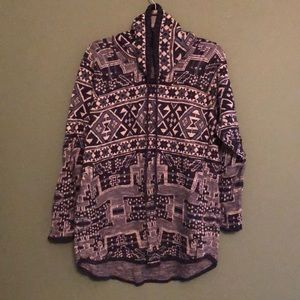 Chaps Aztec Print Pullover Sweater